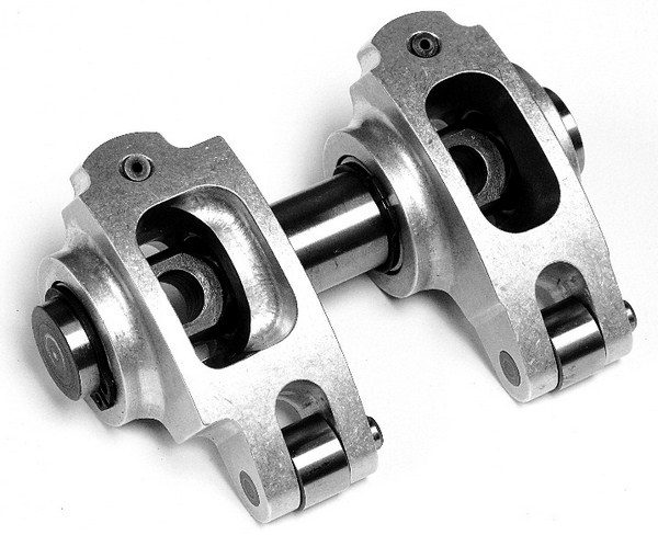 Mast Motorsports offers drop-in, shaft-mount rocker arms that are direct replacements for the factory units. Instead of having eight rocker arms riding on a central shaft, the Mast design features a shared shaft for each pair of rockers. The design is compact enough to fit under stock valve covers.